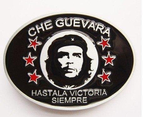 Red Black Cool Belt Buckle (belt buckles men western cowboys cool vintage harley Che Guevara black)