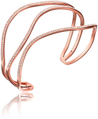 Michael Kors Wonder Lust Rose Gold-Tone Open Statement Cuff Bangle Bracelet (Wonder Woman Cuff Bracelet)
