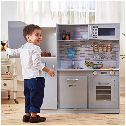 Teamson Kids Modern Kitchen Light Grey Playset