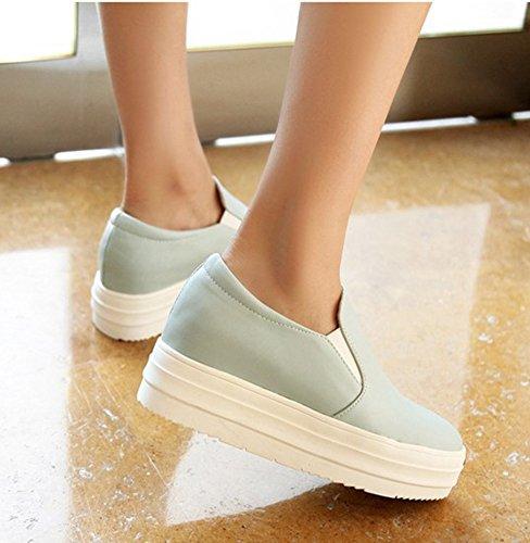 Showhow Sneakers Slip-on Con Suola Spessa E Confortevole Blu
