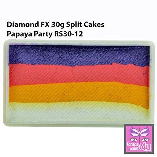 Diamond FX 30g Split Cake / One Stroke Face Paint ~ Papaya Party (RS30-12)