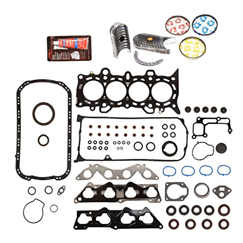 - Evergreen Engine Rering Kit FSBRR4034EVE\0\0\0 Fits 01-05 Honda Civic 1.7 D17A2 D17A6 Full Gasket Set, Standard Size Main Rod Bearings, Standard Size Piston Rings