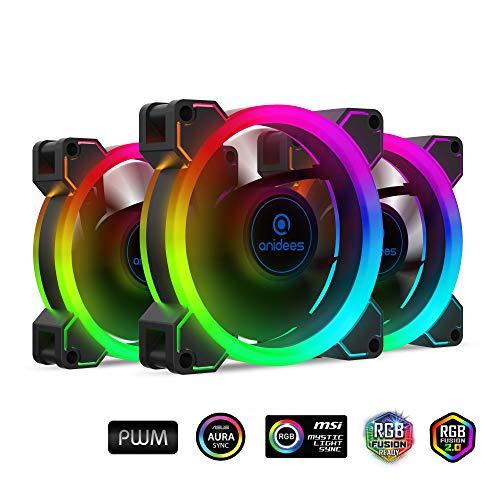 Ventilador anidees AI Aureola Duo 80mm 3pcs RGB PWM Dual Lig