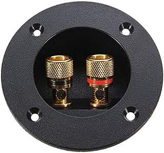TOYANDONA 2 Way Speaker Box Terminal Cup Round Connector Speaker Binding Post Subwoofer Plugs DIY Home Speaker Kits Car Stereo Speakers