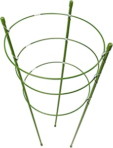 Povkeever Garden Plant Support Ring,Flower Iron Support Climbing Plant Grow Cage Size 1set 45cm/18inch