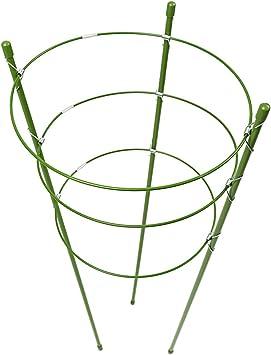 60cm Pflanzenhalter Kletterhilfe Pflanzenstütze Staudenhalter 3 Ringe