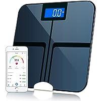 XieHouMeiYiTian Bluetooth Body Weight Scale Smart Digital Bathroom Fat Scale Body Composition Analyzer with iOS and Andorid APP Black