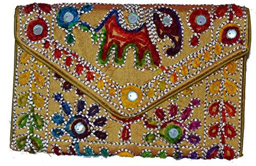 Bolso Étnicos De Colores 32x20 Clutch Con varios Disponibles Tela Amarillo Cms Motivos rwXr5qa