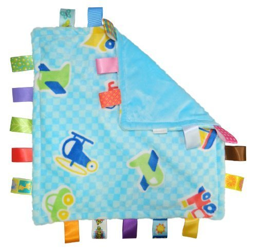 Taggies Little Taggies Blanket, Blue Vehicles by Taggies