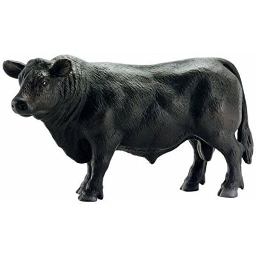 Schleich Black Angus Bull Toy Figure