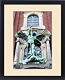 Framed Print of Sculpture of the archangel Michael defeating Satan, St Michaelis Church