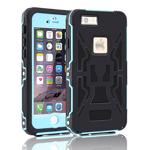 [2016 Release]iPhone6S plus Waterproof Case, Toyeahcase Screw Location Full Body IPX-68 Waterproof Rugged Hybrid Protective Case Cover Skin [6 meters depth]for iPhone6S/6(5.5 inch) (Plus Screw)