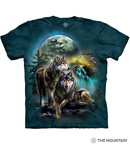 The Mountain Wolf Lookout Adult T-Shirt, Green, XL