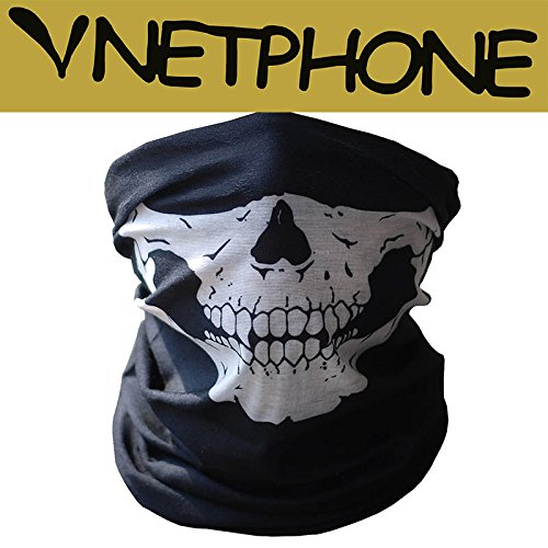 Hitaocity Motorcycle Skull Mask / Wear Headgear Neck Warmer Cycling Goggles Bandana Balaclava Half Ski Skiing Winter Store Shop Item Stuff Protective Hannibal Cheap Skeleton Scary Funny Unique Mouth Full -
