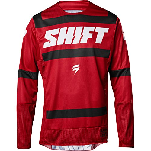 2018 Shift Black Label Strike Jersey-Dark Red-M by Shift