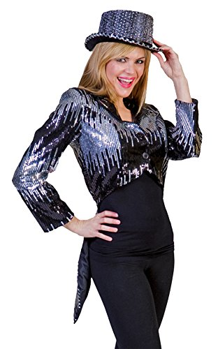 [Glitter Tailcoat Silver Adult Costume Xlg Adult Womens Costume] (Womens Tailcoat Costume)