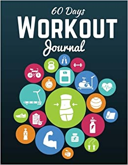60 days workout journal workout log book exercise log fitness