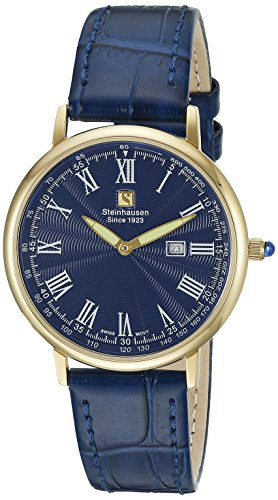 Steinhausen Men's GWL493GUUA Dunn Luxe Analog Display Swiss Quartz Blue Watch
