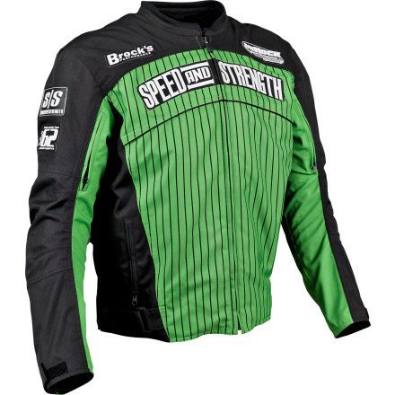 Speed and Strength 62 Motorsports Mens Green Textile Jacket - Large