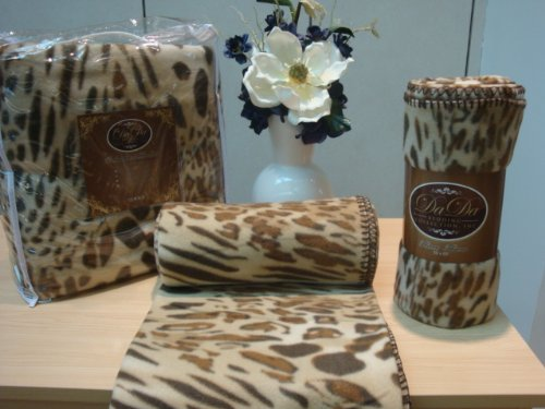 DaDa Bedding BL70742 Leopard/Cheetah Polar Fleece Blanket, Full, Brown (Inc Bedding Cheetah)