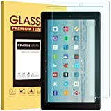 [2 Pack] Fire HD 10 Screen Protector, SPARIN Tempered Glass Screen Protector with Scratch Resistant/Easy Install for All-New Fire HD 10 / Fire HD 10 Kids Edition