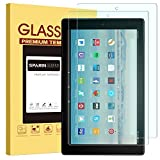 [2 Pack] All-New Fire HD 10 Screen Protector, SPARIN Tempered Glass Screen Protector with Strong Protection / Bubble Free / Scratch Resistant for All-New Fire HD 10 Tablet (7th Gen, 2017 Release)