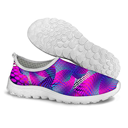 FOR U DESIGNS Stylish Lightweight Summer Breathable Mesh Sport Running Shoes For Women Purple qencOvj