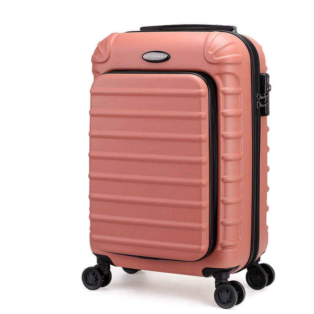 PCビジネストローリーケースコンピュータ荷物ボックスコンピュータバッグユニバーサルホイール搭乗シャーシスーツケース (色 : Pink, サイズ さいず : 20 inches) 20 inches Pink B07L6FFXNX