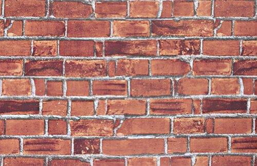Magic-fix Peel & Stick Rustic Bread Brick and Stone Pattern Textured Vinyl Wallpaper Shelf Liner Table and Door Reform (DBS-01 : 1.64 feet X 9.84 - Pattern Wallpaper Imagine