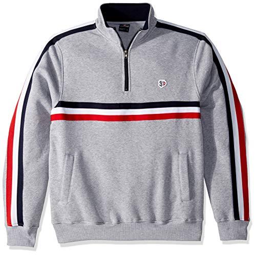 - Southpole Men's Fleece Sweater, Heather Grey Mock Neck, Large