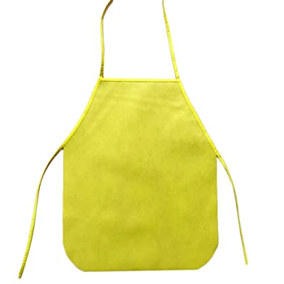 Weite Waterproof Children's Artist Polyester Apron, Durable Unisex Kitchen Bib Aprons Decoration with Adjustable Neck for Cooking Baking Gardening (Yellow): Toys & Games