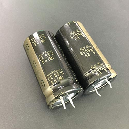 WuLian 5pcs 6800uF 63V NICHICON KG Series 25x50mm 63V6800uF Gold Tune HiFi Audio Capacitor