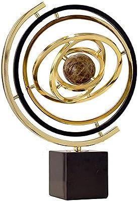 Educativa del globo del mundo Globo del mundo Spinning mármol ...