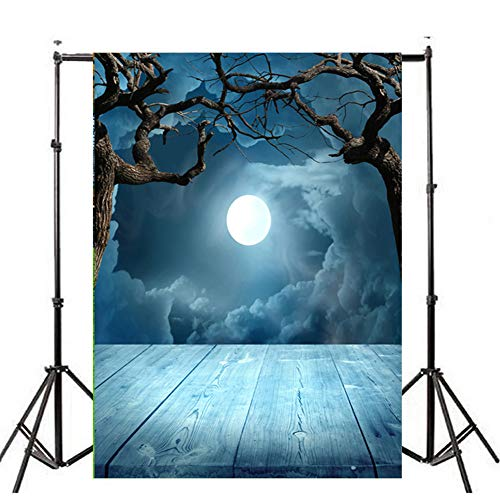 Sunshinehomely Halloween Backdrops for Photography 3x5ft Vinyl Pumpkin