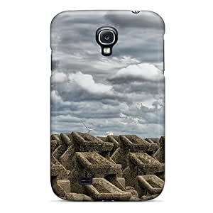 Galaxy S4 Case Cover - Slim Fit Tpu Protector Shock Absorbent Case (lighthouse By A Seawall)