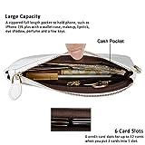 Befen Women Genuine Leather Clutch Wristlet Wallet
