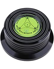 MagiDeal 50/60 hz aluminium skiva vikt LP skivstabilisator skivstång klämma stabilisator stroboskop-gradienter, svart