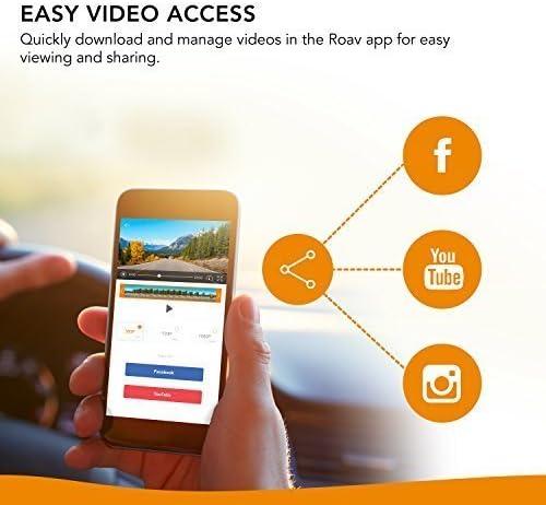 App mit FHD 1080p Aufl/ösung 32GB microSD Speicherkarte inklusive Weitwinkelobjektiv f/ür 4 Spuren Roav DashCam C2 Pro