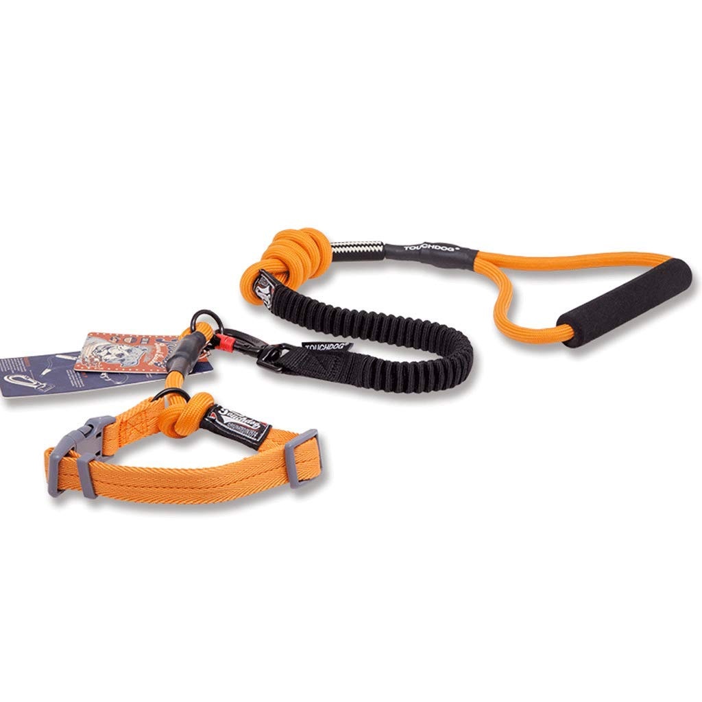 orange S orange S Retractable Anti-Burst Traction Dog Leash,Elastic Traction Rope.High Strength Nylon Section Traction Rope,Multi-color Optional (color   orange, Size   S)