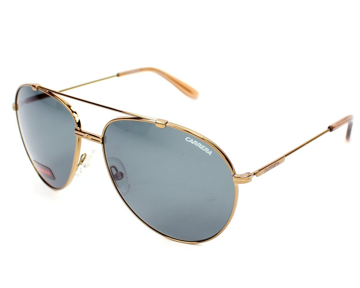 Carrera 67/S Sunglasses CA67S-0OUN-A3-6015 - Antique Gold Frame, Green Foster Lenses, Lens by Carrera