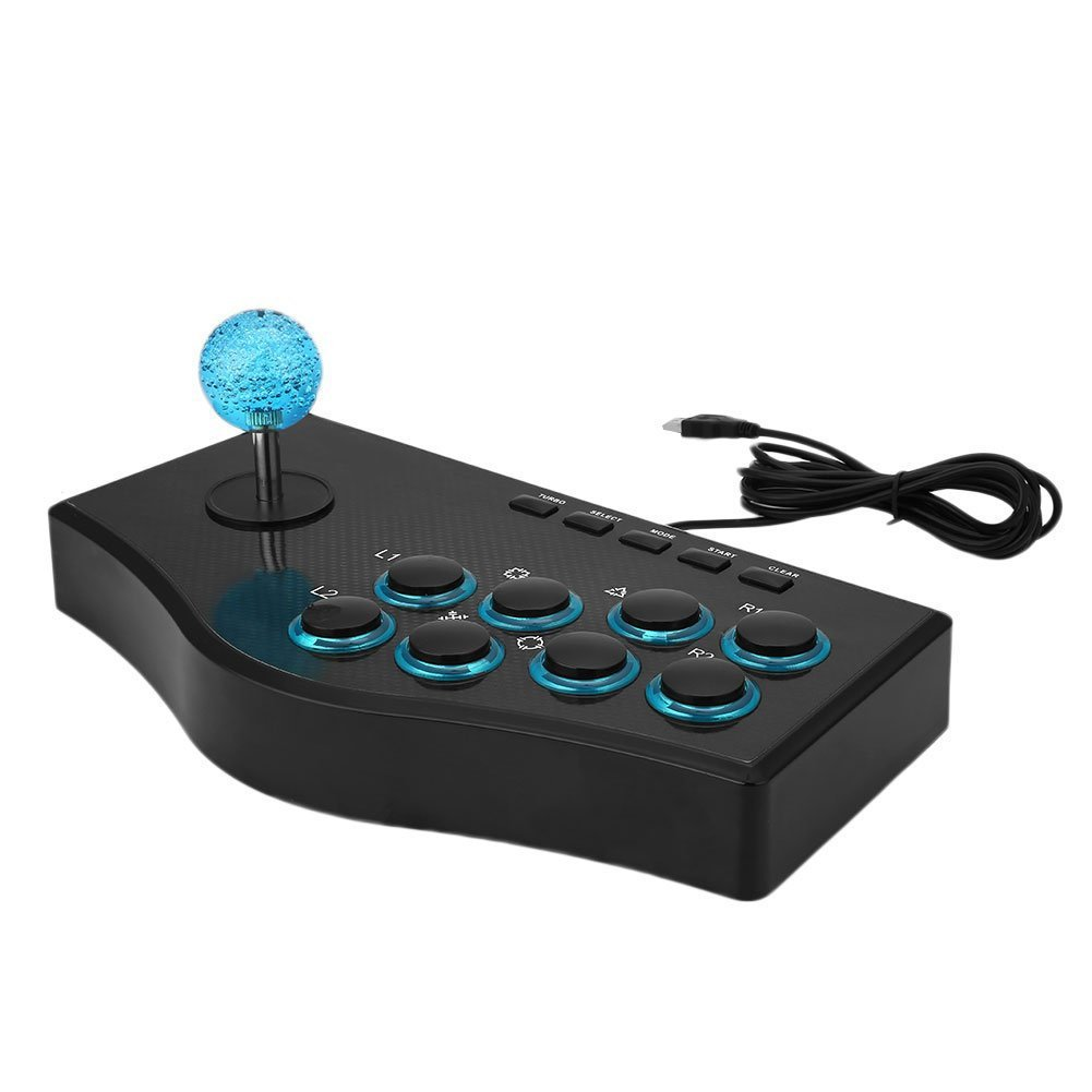 OOFAY Wired USB Fighting Stick Arcade Joystick Gamepad Controller For PS3 For PC For Android Phones For Smart TV