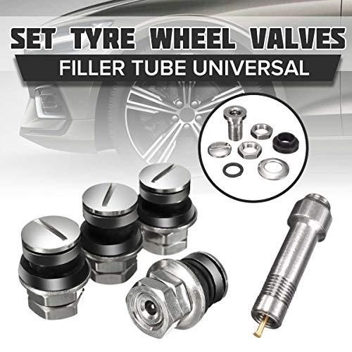 - GOLDEN2STAR - 4 Pcs/Set Universal Chrome Stealth Flush mount Car Wheel Tire Tyre Valve Stems Tube Cap