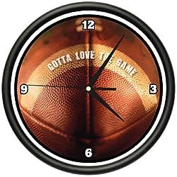 FOOTBALL Wall Clock pads gloves helmet team fan gift