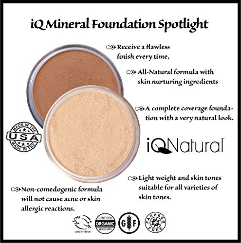 IQ Natural; Pure Minerals Makeup Bare Starter Set with Brush by iQ Natural (Image #2)