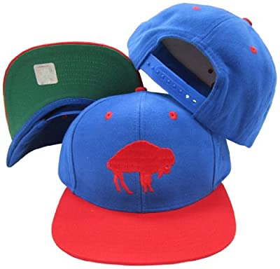 Buffalo Bills Blue/Red Two Tone Plastic Snapback Adjustable Plastic Snap Back Hat / Cap