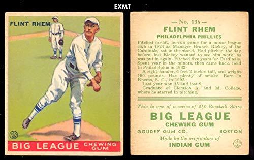Amazoncom 1933 Goudey Regular Baseball Card136 Flint