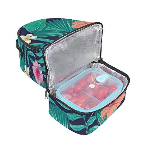 Tote avec réglable Sac à pour floral Folpply à l'école lunch Imprimé Pincnic isotherme Tropical Cooler bandoulière Boîte YzqqwTHWv