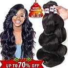 Bestsojoy Brazilian Virgin Hair Body Wave 3Bundles Remy Human Hair Weaves 100% Unprocessed