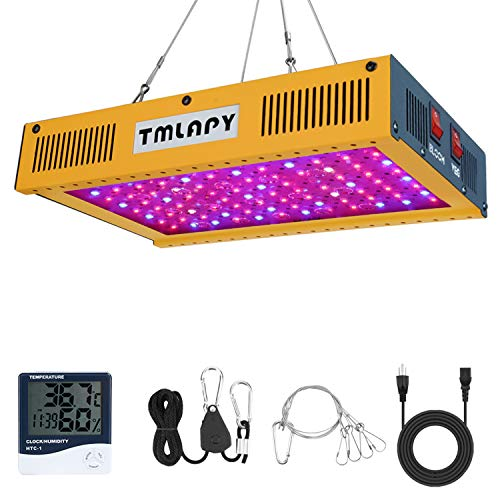 1000W LED Plant Grow Light – Full Spectrum LED Plant Growing Lamp with Veg and Bloom Switch for Greenhouse Indoor Plants Veg and Flower(Dual-Chip 10W LEDs)