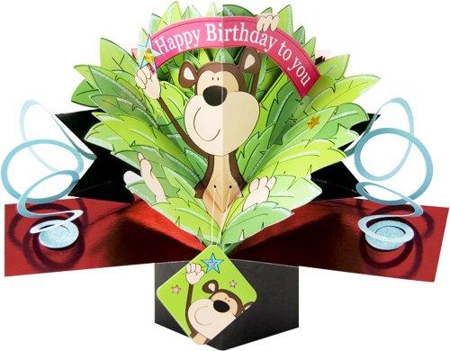 1 X THE ORIGINAL POP UPS - 010 - MONKEY - BIRTHDAY CARD [Office Product] ()
